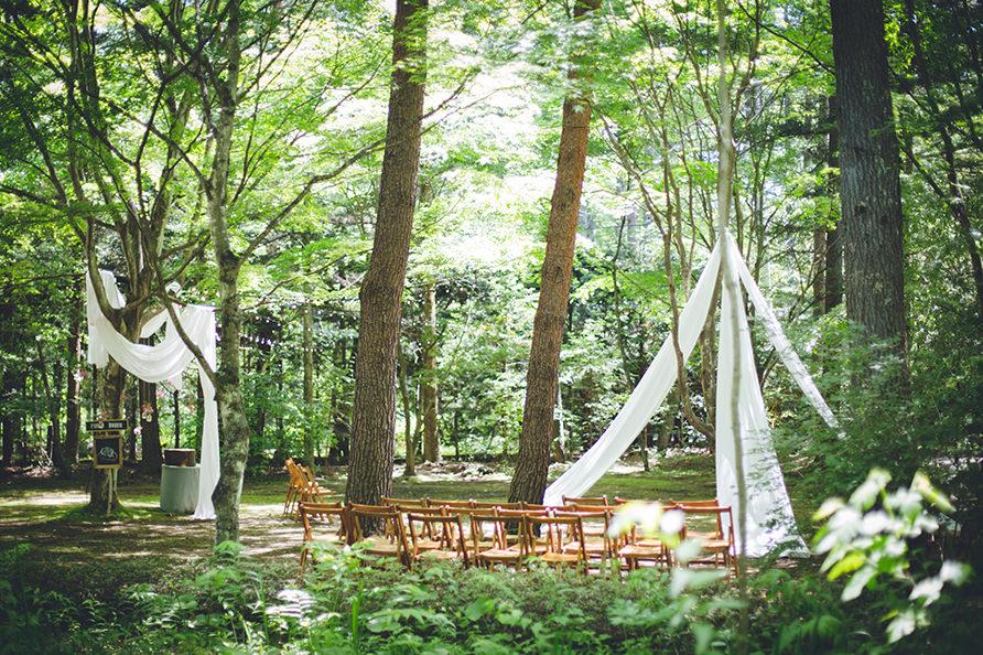 軽井沢ガーデン挙式の写真