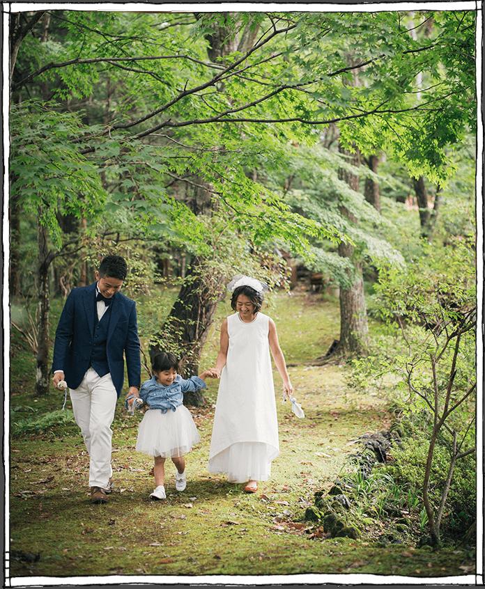 軽井沢の森の中の結婚式