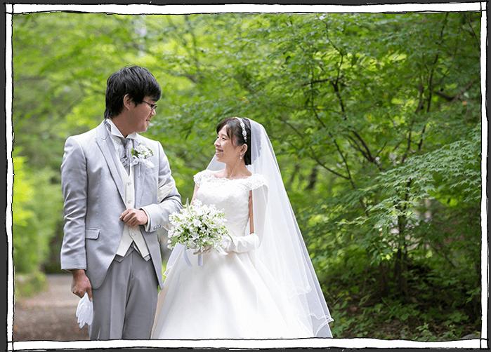 軽井沢の森のウェディング