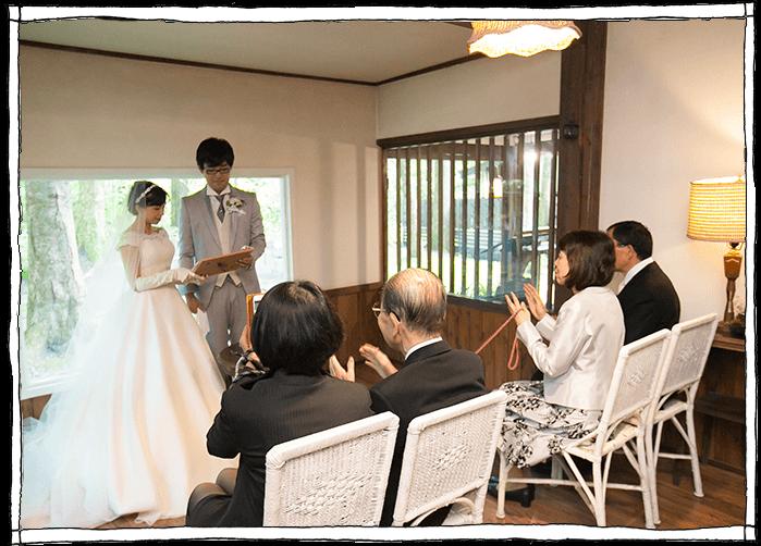 軽井沢凉の音での人前式の写真