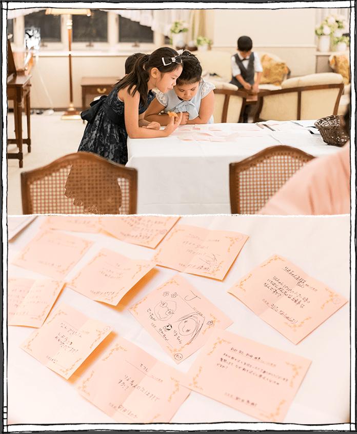 質問カードの写真