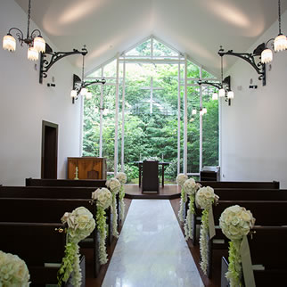 軽井沢の結婚式場のホテル軽井沢 エレガンス