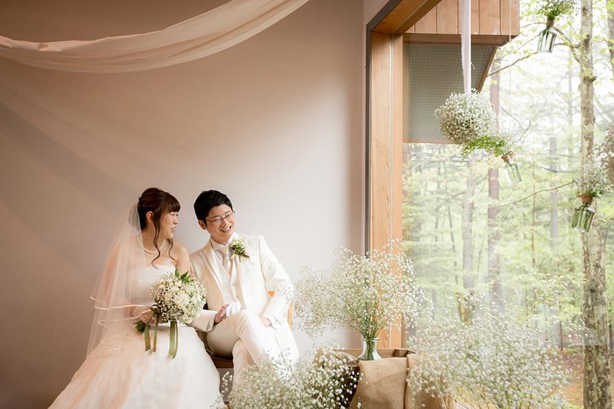 温かい結婚式の写真
