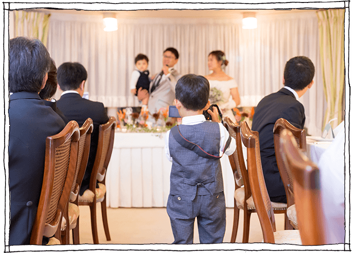 アットホームな結婚式の写真